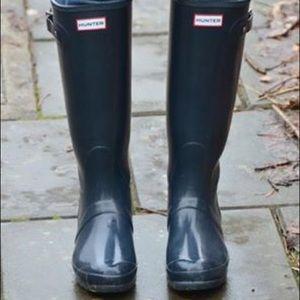 Navy Blue Hunter Boots